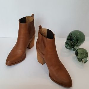 Tony Bianco Tan Leather Ankle Boots